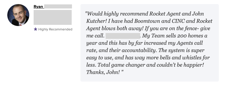 Rocket Client Testimonial #1